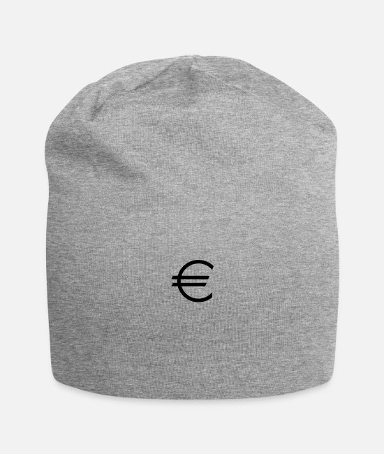 Money Caps & Hats - Euro - Currency - Money - Dollar - Beanie heather gray