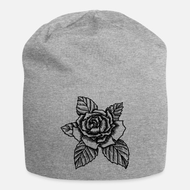 Garden Rose - drawing rose - Beanie