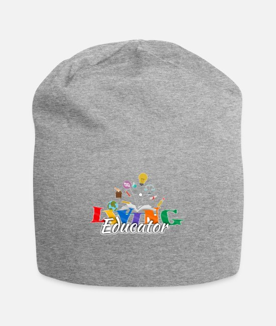 Teacherstuff Caps & Hats - Living Educators T-shirt by Citified Designs - Beanie heather gray