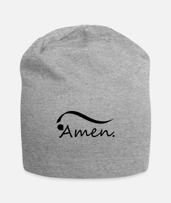 Jesus Caps & Hats - amen - Beanie heather gray