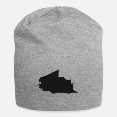 Silhouette Plano Texas city map black illustration silhouette - Beanie
