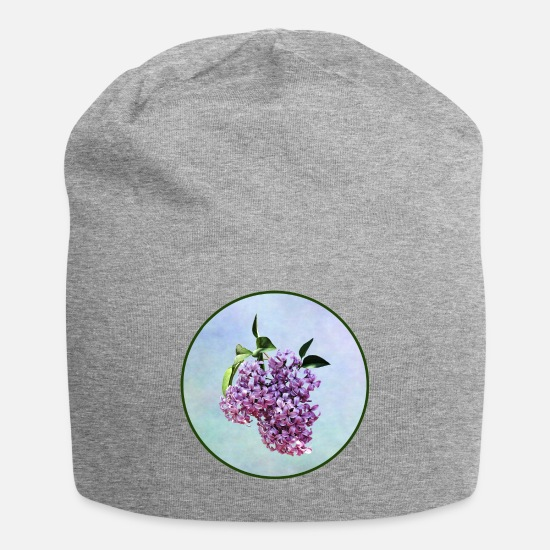 Spring Caps - Delicate Pink Lilacs With Background - Beanie heather gray