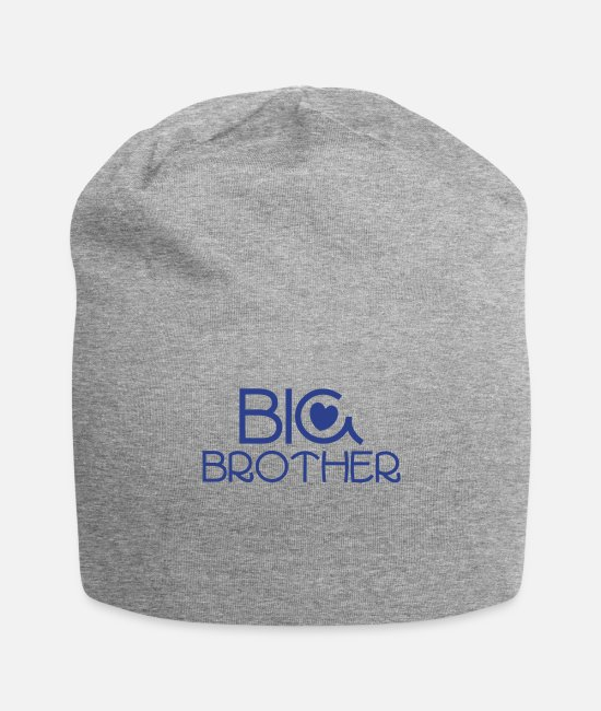 Pregnancy Caps & Hats - big brother in a beautiful brotherly Blue - Beanie heather gray