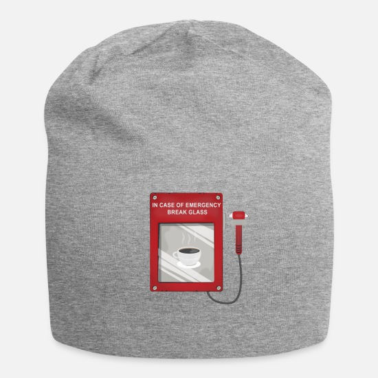 Coffee Caps - Funny Emergency Tshirt for Coffee Drinkers - Beanie heather gray