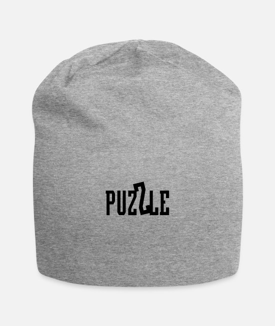 Logbook Caps & Hats - Puzzle Puzzles - Beanie heather gray