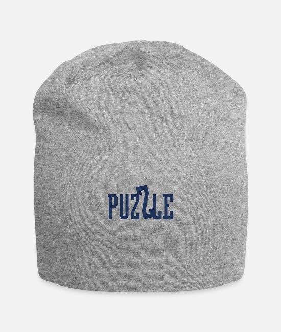 Puzzle Hobby Caps & Hats - Puzzling - Beanie heather gray