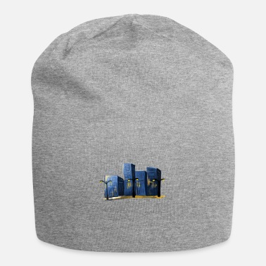 City At Night Downtown - City at night aesthetics - Beanie