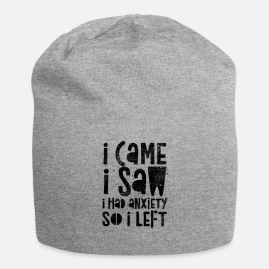 Saw Came Saw Left Introvert Social Anxiety Funny - Beanie