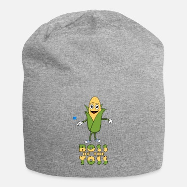 Funny Boss Of The Toss Cornhole Graphic - Beanie