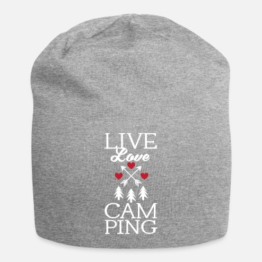 Roast Funny Live Love Camping Tent Outdoor Camper - Beanie