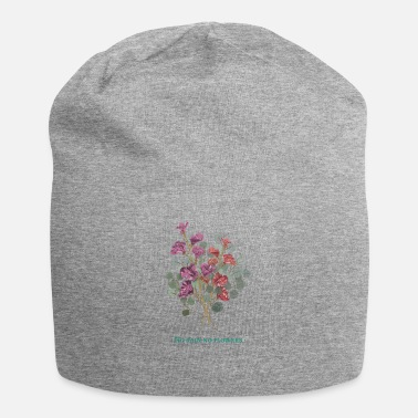 Rain art life rain flowers motivation woman gift idea - Beanie
