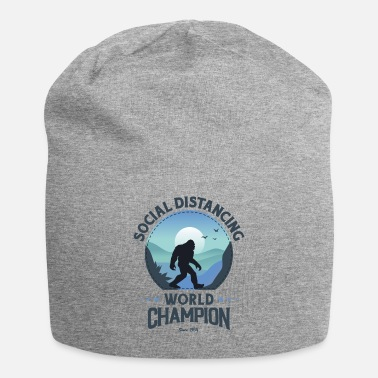 House Social Distancing World Champion Funny Bigfoot - Beanie