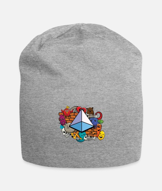 Geometry Caps & Hats - Geometry Square Pyramid Geometric 3d Shape Form - Beanie heather gray