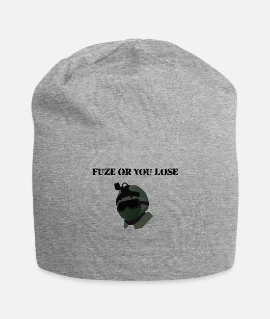 Game Caps & Hats - Fuze or you lose funny rainbow six siege - Beanie heather gray