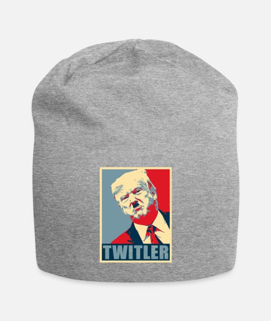 Sticker Caps & Hats - Funny Anti Trump Design - TWITLER - Beanie heather gray
