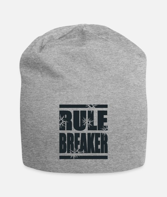 Rebel Caps & Hats - RULE BREAKER - Beanie heather gray
