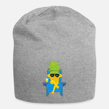 Moleskin Fruit Cool Pineapple With Sunglasses Graphic - Beanie