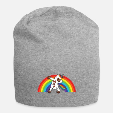 Funny Single Dab Dabbing Unicorn Rainbow - Beanie