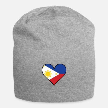 Filipino Flag Filipino Flag Heart - Beanie