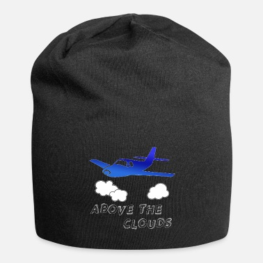 Above The Clouds Airplane - above the clouds - Beanie