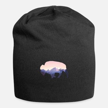 Native American Buffalo Native American Buffalo Bison Mountain Wilderness - Beanie
