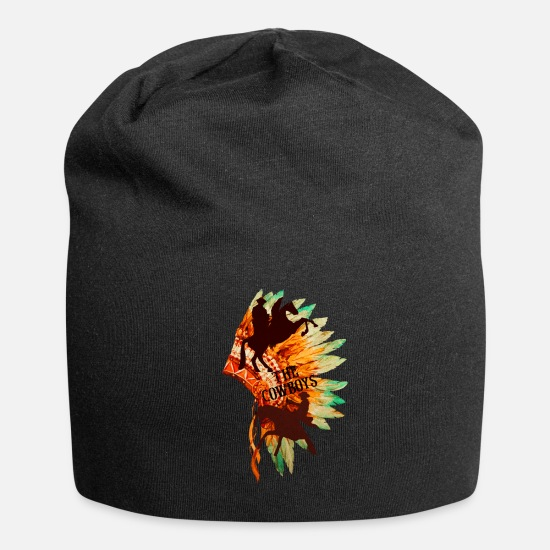Indian Caps - indian and cowboy - Beanie black