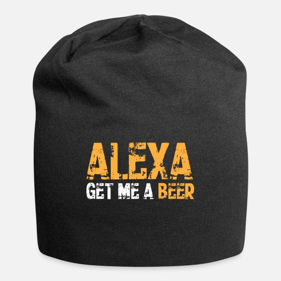 Beer Caps - Alexa Alcohol Request Beer Funny Gift - Beanie black