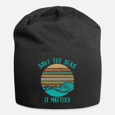 Save Environmentalist Ocean Awareness Retro Cool Gift - Beanie