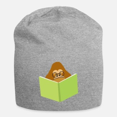 Orang Utan Orang-utan in glasses reading a book - Beanie