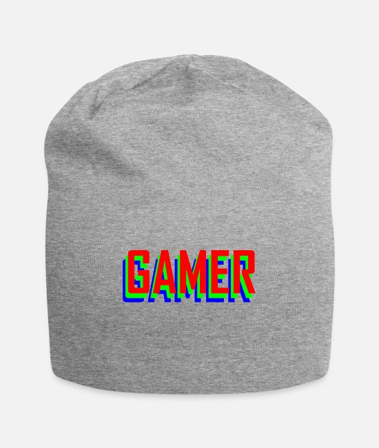 Video Game Caps & Hats - Gaming Gamer Video Games - Beanie heather gray