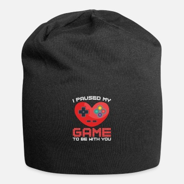 Pause Video Gaming Valentines Day Gift Paused Game - Beanie