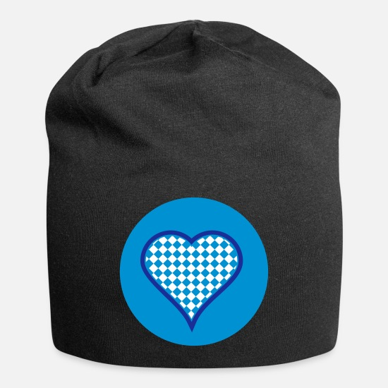 Bavarian Caps - Bavarian heart (3c) - Beanie black