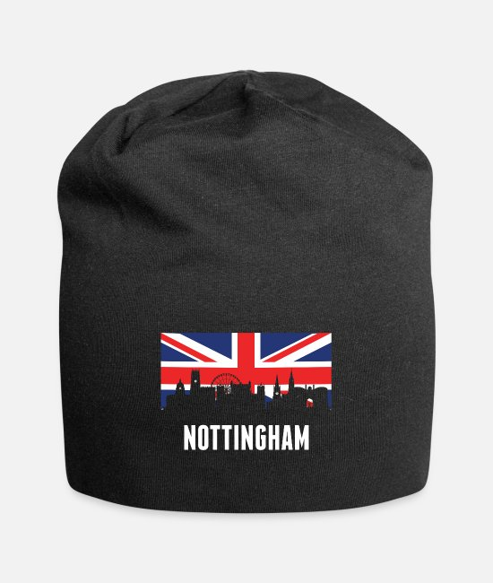 Nottingham Caps & Hats - British Flag Nottingham Skyline - Beanie black