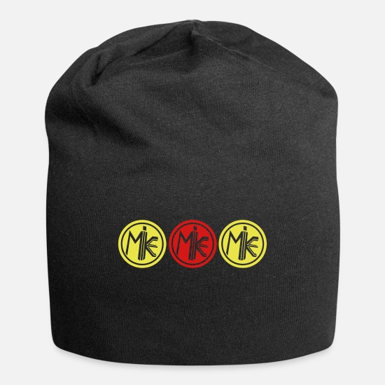 Vision Caps - M.I.K.E. (SHINY GOLD & SHINY SILVER Hat) - Beanie black