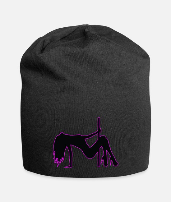 Strip Caps & Hats - Stripper - Pole Dancing - Dancer - Nude - Naked - Beanie black
