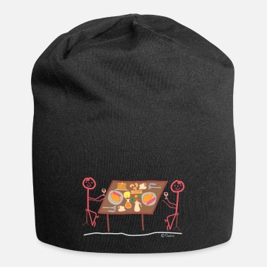 Stick Breakfast Stickfigure lunch dinner meal Restaurant - Beanie