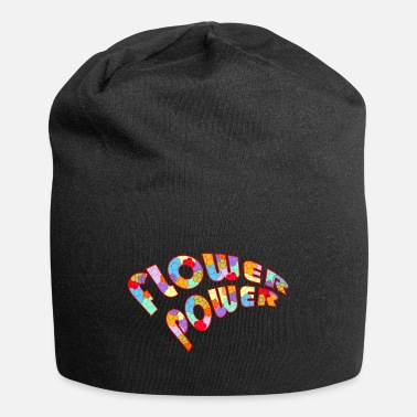 Flower Power Flower Power Lettering with Flowers - Beanie