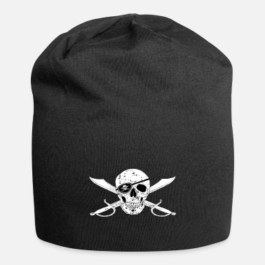 Jolly Pirate Flag Jolly Roger w Eyepatch right - Beanie