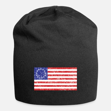 American Flag In Distress Betsy-Ross-Flag Distresse - Beanie