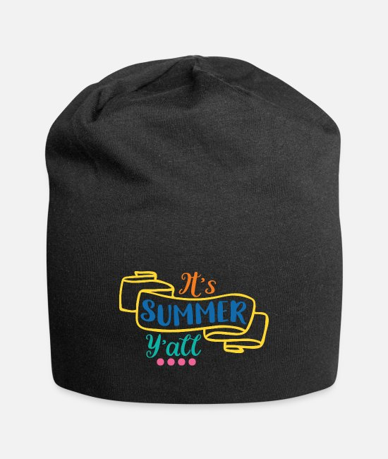 Brilliant Caps & Hats - Its Summer Yall - Beanie black