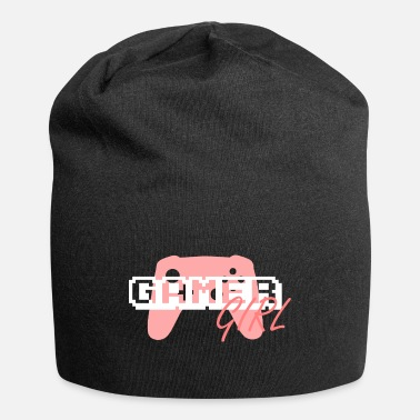 Pixel Pink and White Gamer Girl - Beanie