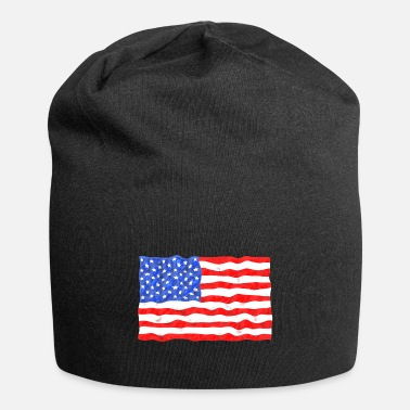 American Flag In Distress Stars and Stripes American Flag Distressed - Beanie