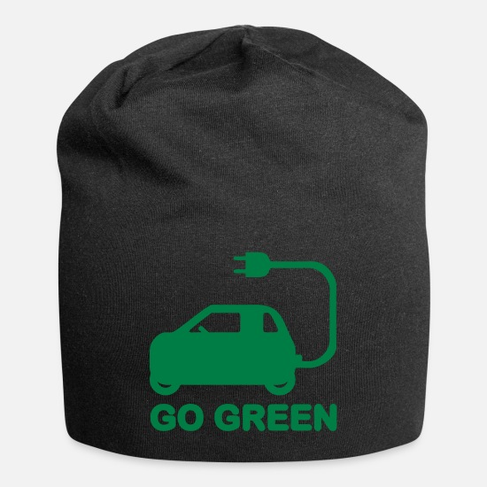 Vehicles Caps - GO GREEN ~ DRIVE ELECTRIC VEHICLES - Beanie black