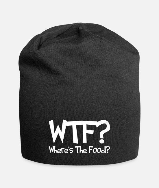 Wtf Is Wrong Caps & Hats - WTF? Where's The Food? - Beanie black