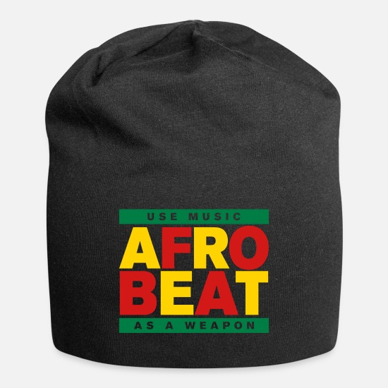 Africa Caps - AFROBEAT _ USE MUSIC AS A WEAPON - Beanie black