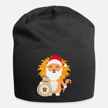 Present Santa Lion with Present Gift - Beanie