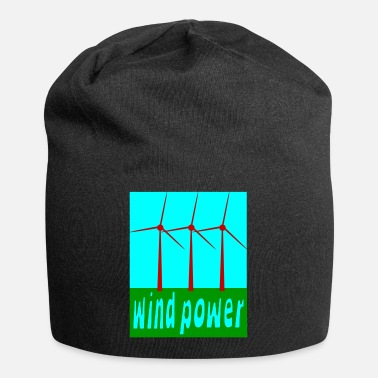 Wind Wind Power With Wind Turbines - Beanie