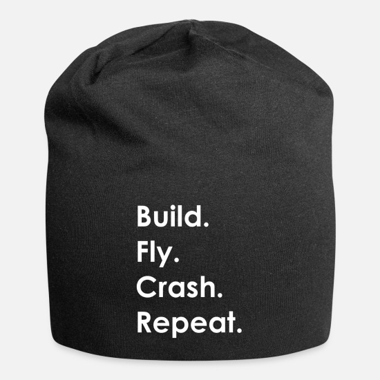 Crash Caps - Build Fly Crash Repeat #1 - Beanie black