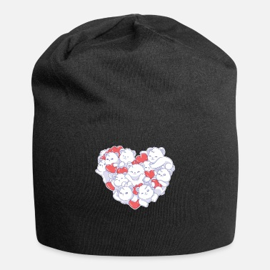 Steal Valentine's Day Polar Bear Hearts Pet Animal - Beanie