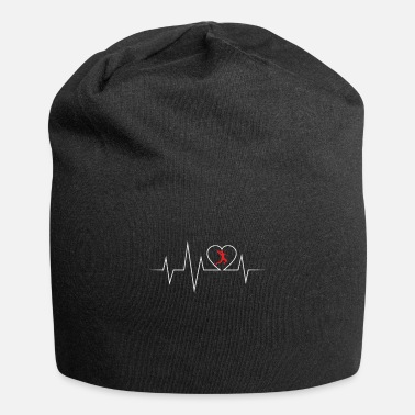 Goalkeeper Handball ECG love and heartbeat - Beanie